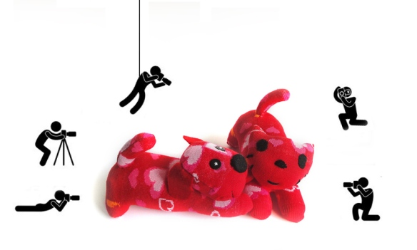 Red and Pepper sock animals